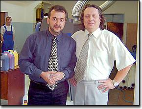 Валерий Шаферман с Дмитрием Сергеевым, главой челябинского ЗЕНОНа