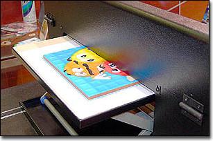 Печать на нерегулярной кафельной плитке